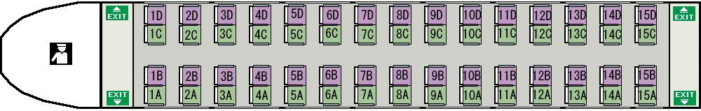ź�席探訪 E351系「スーパーあずさ」座席図